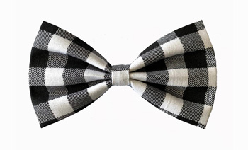 Bow Tie Formal Wear for Dogs � Black and White Check