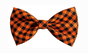 Bow Tie Formal Wear for Dogs � Black and Orange Check