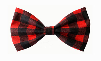 Bow Tie Formal Wear for Dogs � Red and Black Check